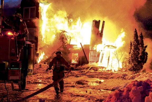 Raymond Apartment House Blaze