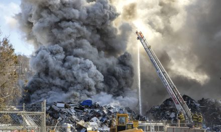 Waterbury Scrap Yard Blaze