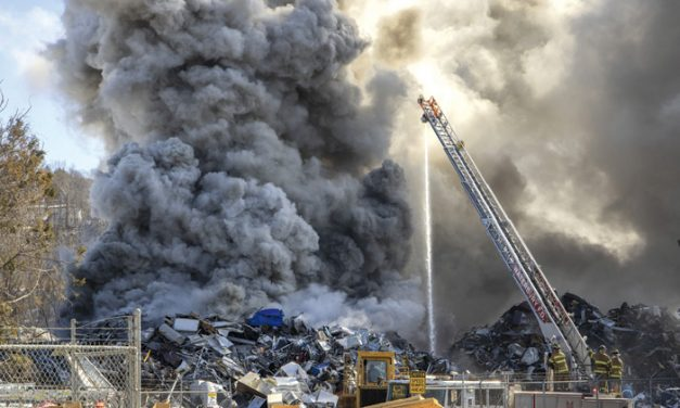 Waterbury Scrap Yard Blaze