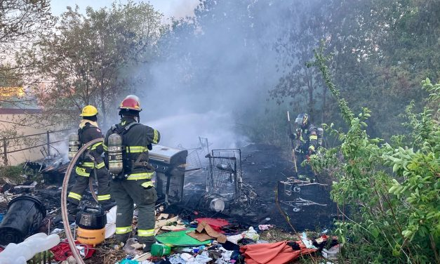 FIRE AT HOMELESS ENCAMPMENT QUICKLY SNUFFED