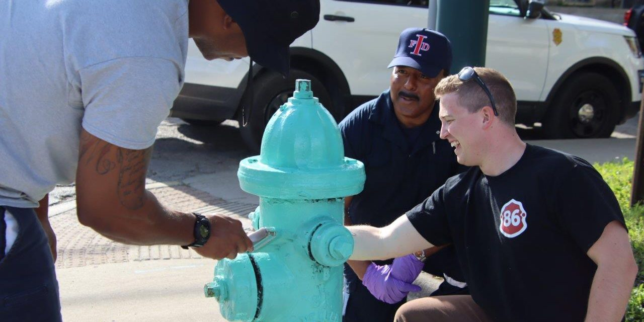 """Indianapolis Firefighters partner with Citizens Energy Group in """"Badges for Burn Camp"""" Hydrant project"""