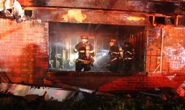 INDIANAPOLIS FIREFIGHTERS TACKLE APARTMENT BLAZE
