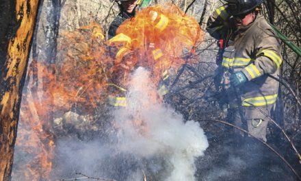 Tires Spark Runaway Brush Fire