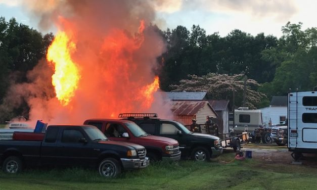 SUFFOLK FIRE & RESCUE (VA) RESPONDS TO RESIDENTIAL BLAZE