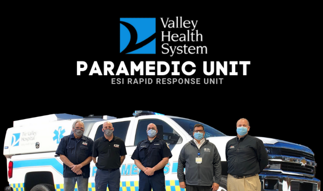 VALLEY HEALTH SYSTEMS DEPARTMENT OF EMERGENCY SERVICES (PA) TAKES DELIVERY OF NEW PARAMEDIC UNIT