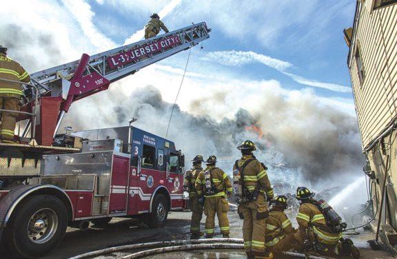 1 Injured at Jersey City Junkyard Blaze