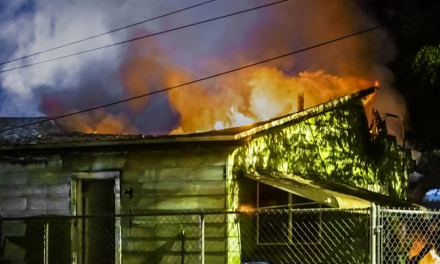 MULTIPLE AGENCIES BATTLE STRUCTURE FIRE WITH COLLAPSE IN FLORIDA