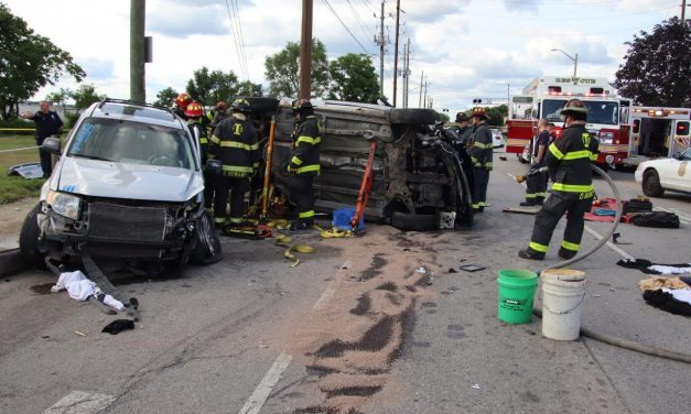 INDIANAPOLIS FIREFIGHTERS WORK SERIOUS MOTOR VEHICLE ACCIDENT WITH FATALITY
