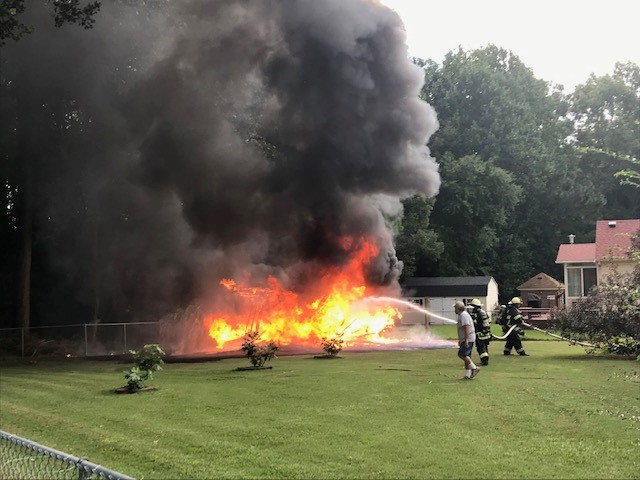 TWO RESIDENCES DAMAGED FOLLOWING SHED FIRE IN VIRGINIA
