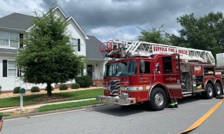 THREE ADULTS DISPLACED FOLLOWING RESIDENTIAL STRUCTURE FIRE IN SUFFOLK (VA)