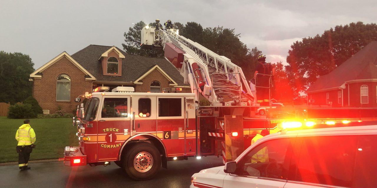 LIGHTNING STRIKE DAMAGES VIRGINIA HOME