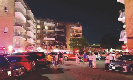 Residents Displaced at Hempstead Apartment House Blaze