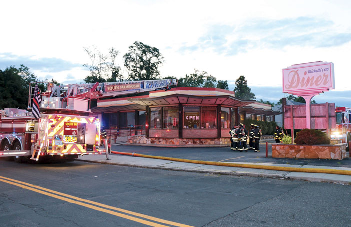 North Amityville Diner Fire Stopped