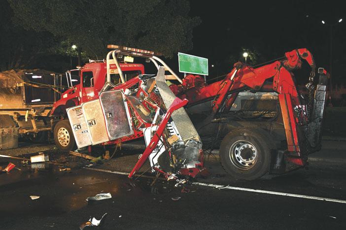 Truck Overturn in Bellmore