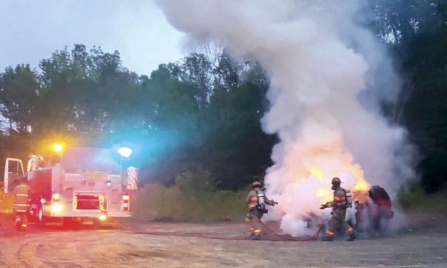 Five Mile Point Handles Car Fire