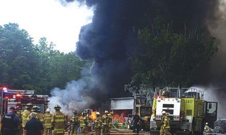 Junk Yard Fuel Tank Fire