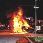 Hempstead Turnpike Car Fire