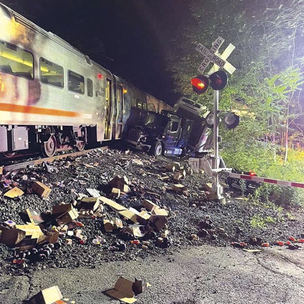 Truck vs Train in Mount Olive