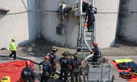 INDIANAPOLIS CREWS RECOVER TRAPPED VICTIM FROM SILO