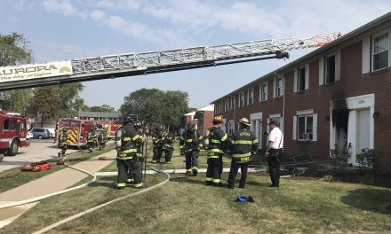8 DISPLACED AT APARTMENT FIRE IN AURORA (IL)
