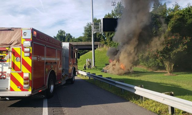 DRIVER PULLED FROM BURNING VEHICLE BY PASSING MOTORISTS IN VIRGINIA