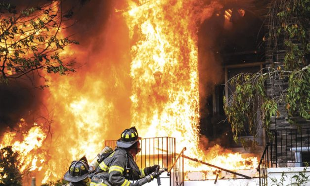 Hillcrest FD Greeted with Heavy Flames
