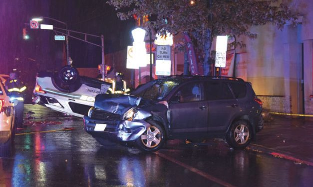 Chase Ends in Collision for 3-Vehicles